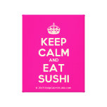 [Crown] keep calm and eat sushi  Canvas Print