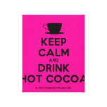 [Cup] keep calm and drink hot cocoa  Canvas Print