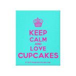 [Cupcake] keep calm and love cupcakes  Canvas Print