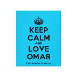 [Crown] keep calm and love omar  Canvas Print