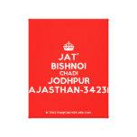 [Crown] jat' bishnoi chadi jodhpur rajasthan-342312  Canvas Print