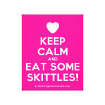 [Love heart] keep calm and eat some skittles!  Canvas Print