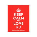 [Crown] keep calm and love pj  Canvas Print