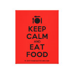 [Cutlery and plate] keep calm and eat food  Canvas Print