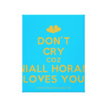 [Two hearts] don't cry coz niall horan loves you  Canvas Print