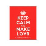 [Crown] keep calm and make lovr  Canvas Print