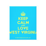 [Crown] keep calm and love west virginia  Canvas Print
