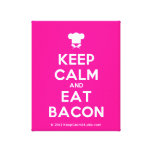 [Chef hat] keep calm and eat bacon  Canvas Print