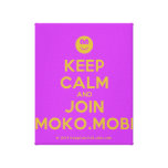 [Smile] keep calm and join moko.mobi  Canvas Print