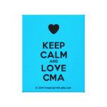[Love heart] keep calm and love cma  Canvas Print