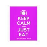 [Cutlery and plate] keep calm and just eat  Canvas Print
