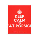 [Crown] keep calm and eat popsick  Canvas Print