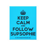[Crown] keep calm and follow supsophie  Canvas Print