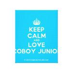 [Crown] keep calm and love coboy junior  Canvas Print