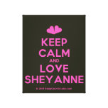 [Two hearts] keep calm and love sheyanne  Canvas Print