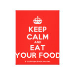[Crown] keep calm and eat your food  Canvas Print