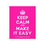 [Crown] keep calm and make it easy  Canvas Print