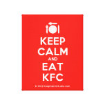 [Cutlery and plate] keep calm and eat kfc  Canvas Print