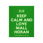 [UK Flag] keep calm and love niall horan  Canvas Print