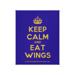 [Crown] keep calm and eat wings  Canvas Print