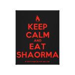 [Campfire] keep calm and eat shaorma  Canvas Print
