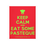 [Chef hat] keep calm and eat some pasteque  Canvas Print