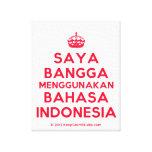 [Crown] saya bangga menggunakan bahasa indonesia  Canvas Print