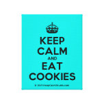 [Crown] keep calm and eat cookies  Canvas Print
