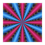 Canvas Print  16 Segments in Pink and Blue