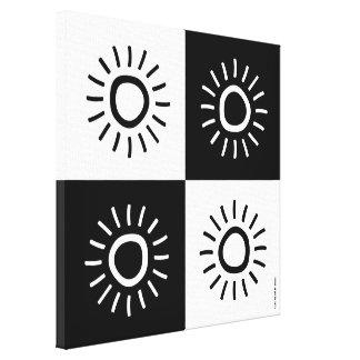 "Canvas print - 16"" x 16"" - ""The sun shine"""