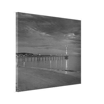 Beach Themed Canvas Print - Brighton Jetty South Australia