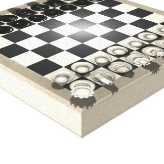 Canvas Print: Chess Pieces on a Chessboard