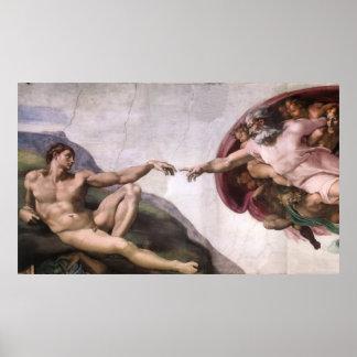 Canvas Print - Creation of Adam