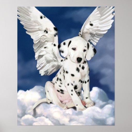 Canvas print Dalmatian puppy angel painting