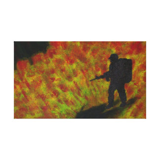 """Canvas Print, """"Fire in the Hole"""" Acrylic Painting Canvas Print"""