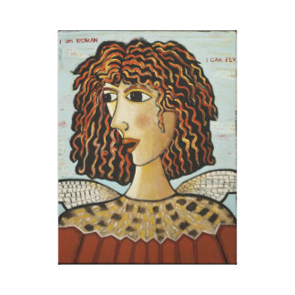 Canvas Print-I Am Woman, I Can Fly - Bird