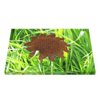Canvas Print - Iron Sunflower in Grass