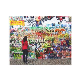 Canvas Print - John Lennon Wall, Prague