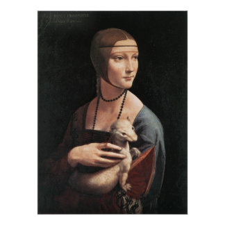 Canvas Print - Lady with an Ermine