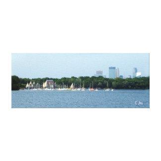 Canvas Print: Lake Harriet & Minneapolis Skyline