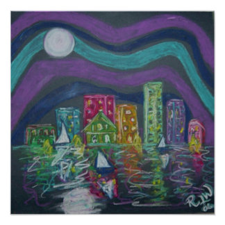 Canvas Print -Little City By the Bay
