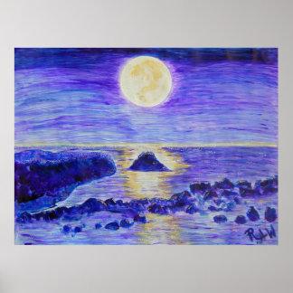 Canvas Print- Moonlight Celebration Poster