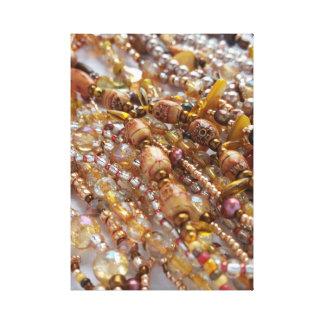 Canvas Print- Natural Earthtones, Bronze Beads