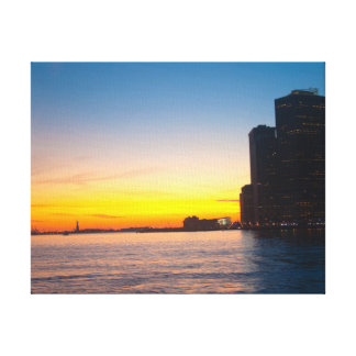 Canvas print: New York Sunset