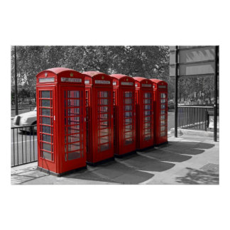 Canvas Print of Red Telephone Boxes in London