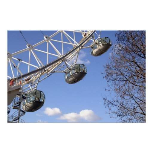 Canvas Print of the London Eye Capsules