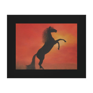 """Canvas Print of """"Wild and Free"""" Oil Painting"""