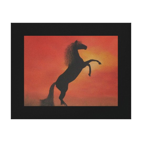 "Canvas Print of ""Wild and Free"" Oil Painting"