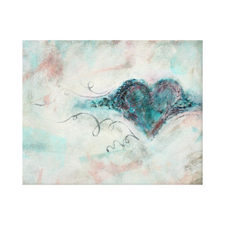 Canvas Print Plastered Heart