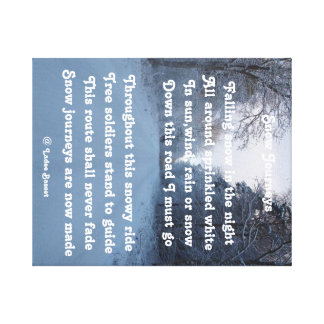 Canvas Print Poem Snow Journey By Ladee Basset
